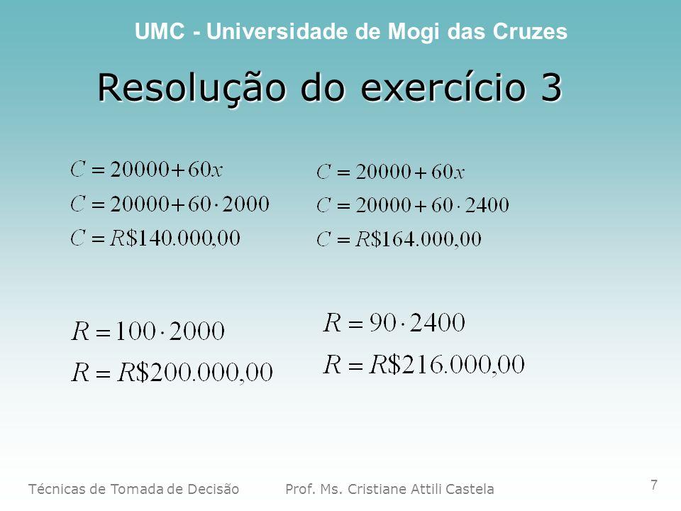 Resolução do exercício 3