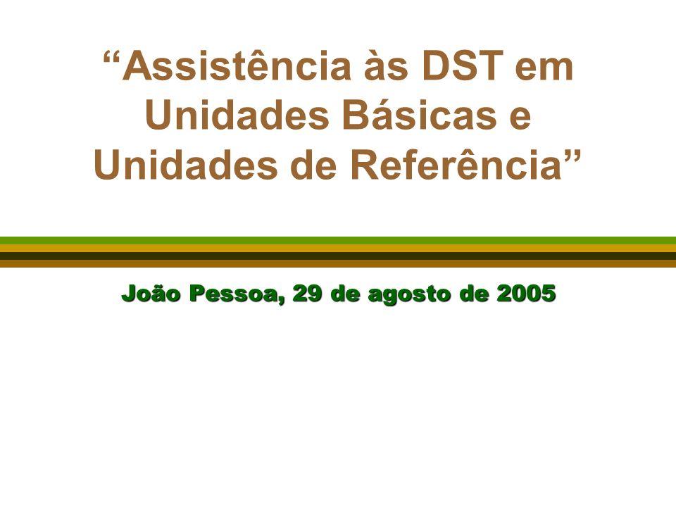 Assistência às DST em Unidades Básicas e Unidades de Referência