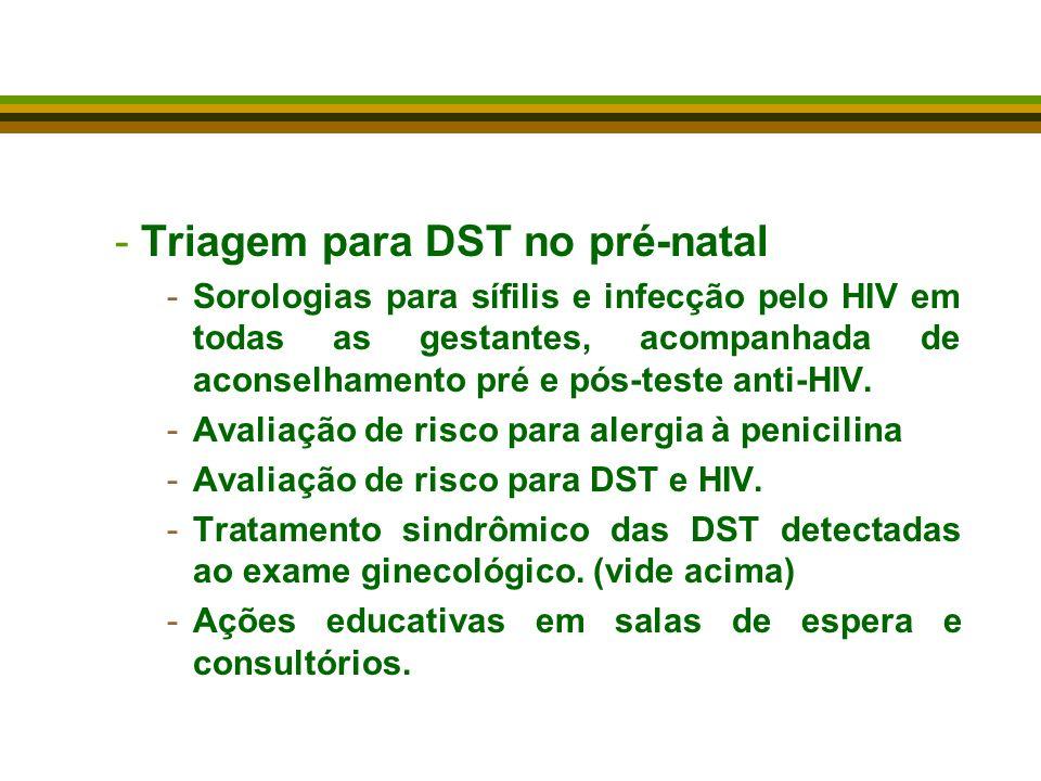 Triagem para DST no pré-natal