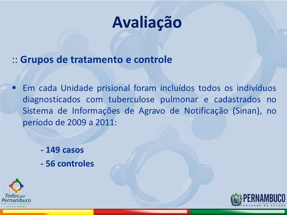 Avaliação :: Grupos de tratamento e controle