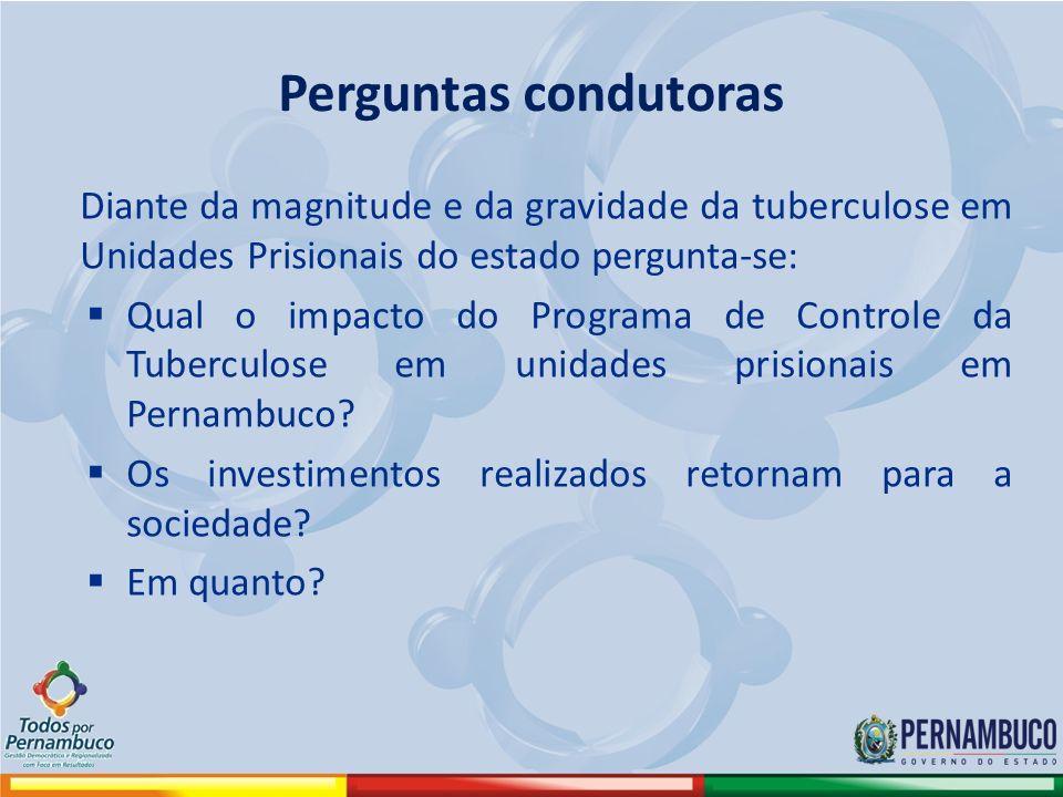 Perguntas condutoras Diante da magnitude e da gravidade da tuberculose em Unidades Prisionais do estado pergunta-se: