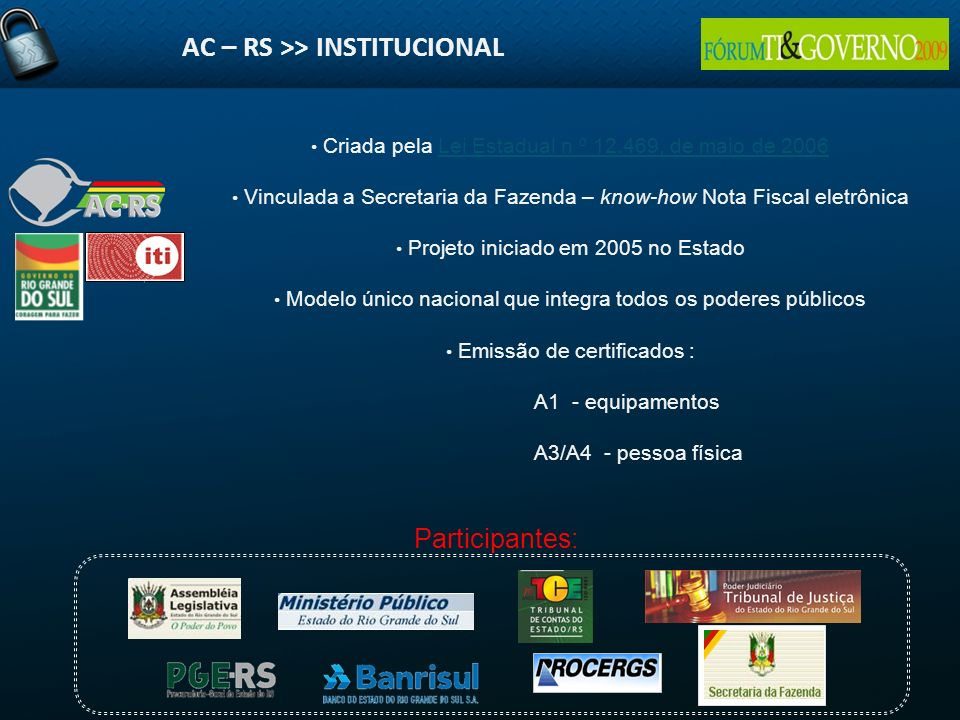 AC – RS >> INSTITUCIONAL