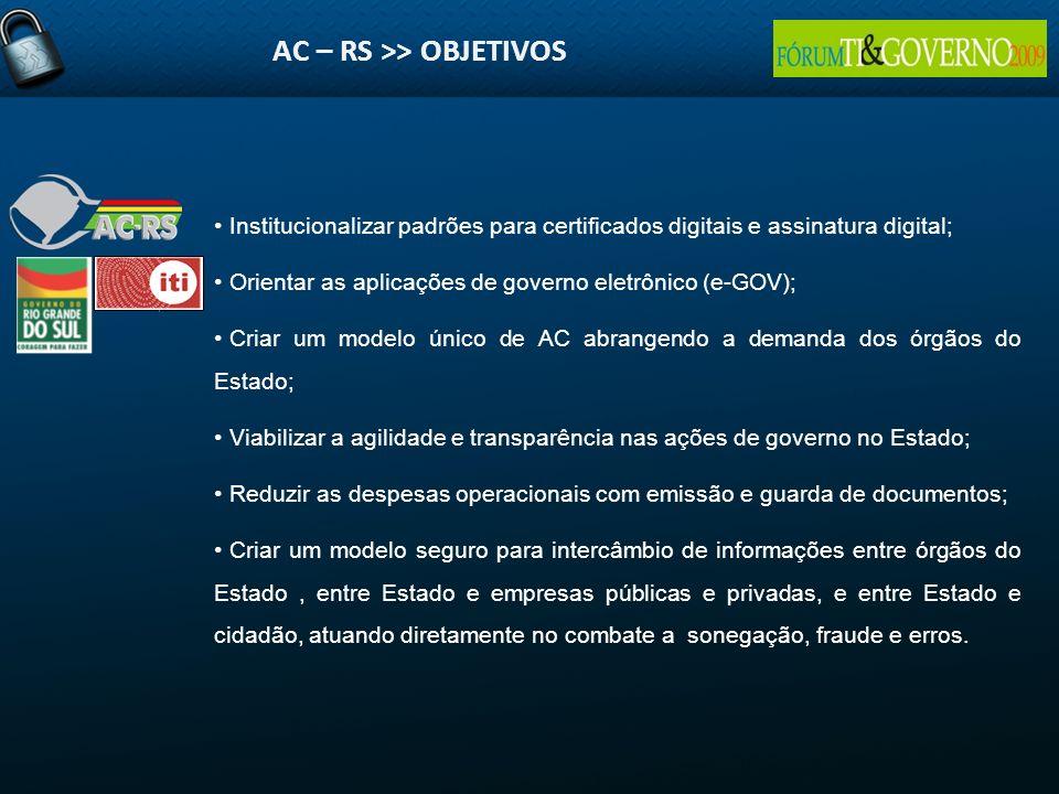 AC – RS >> OBJETIVOS