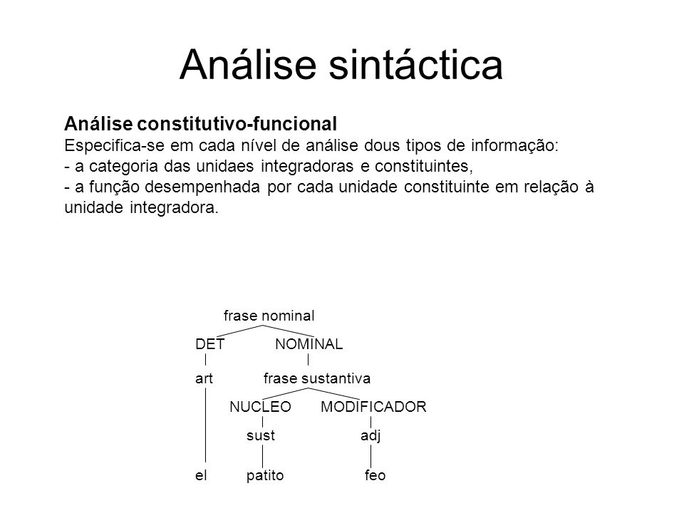 Análise sintáctica