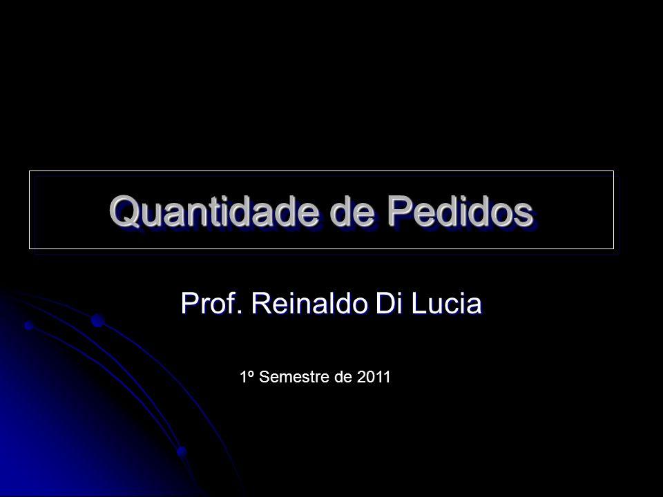 Quantidade de Pedidos Prof. Reinaldo Di Lucia 1º Semestre de 2011
