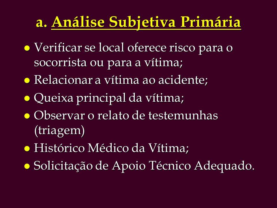 a. Análise Subjetiva Primária