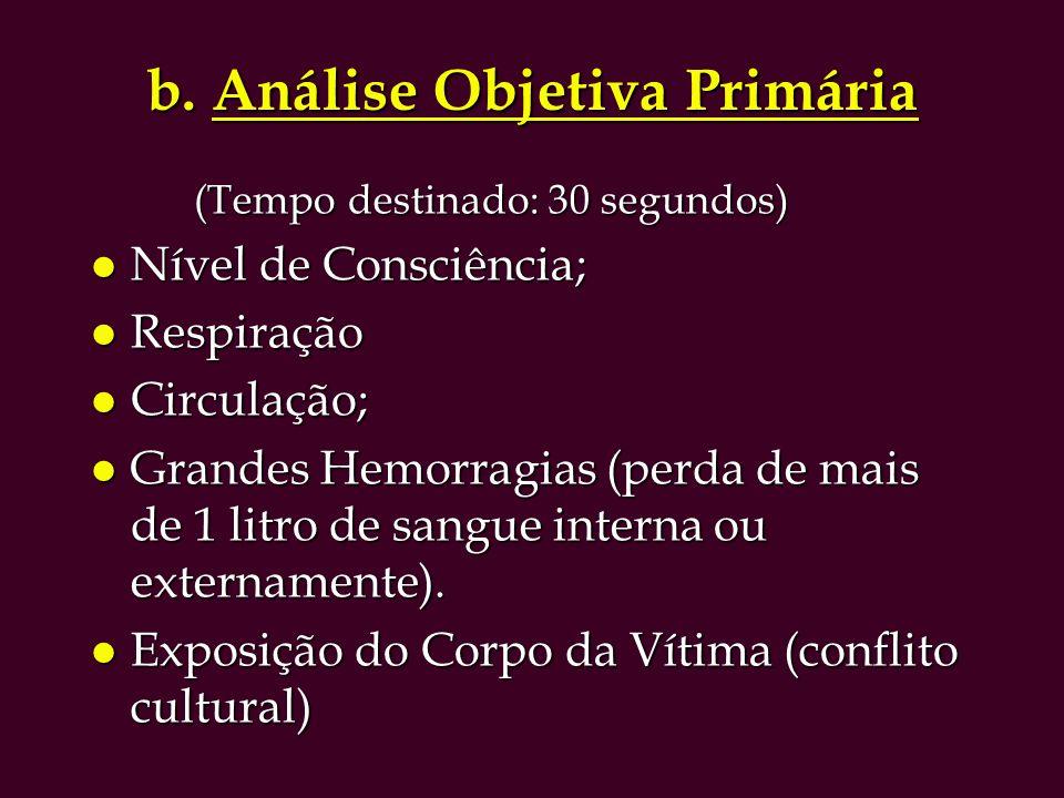 b. Análise Objetiva Primária