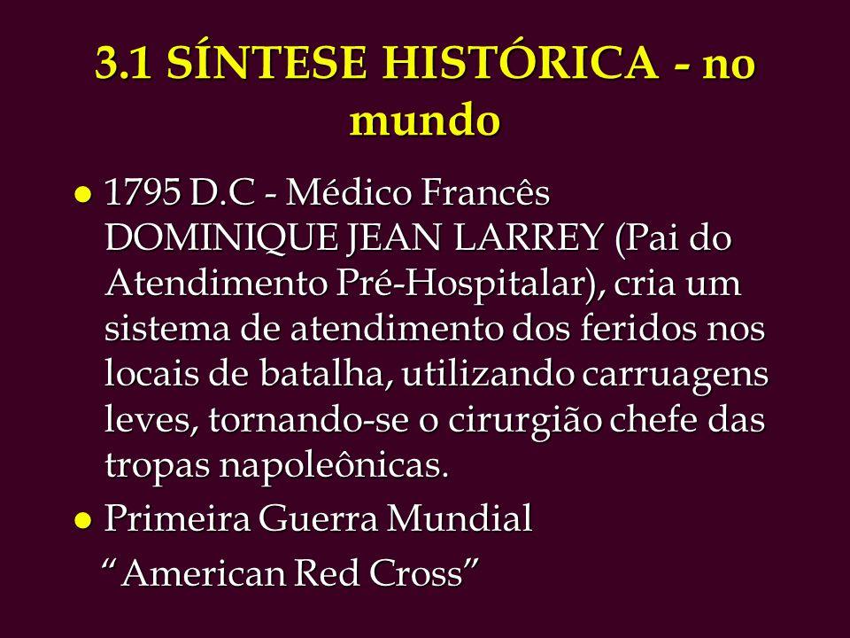 3.1 SÍNTESE HISTÓRICA - no mundo