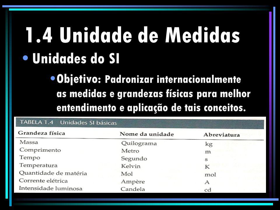 1.4 Unidade de Medidas Unidades do SI