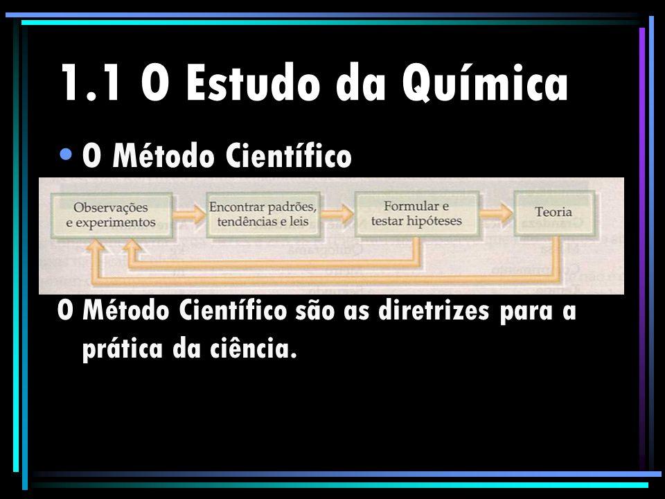 1.1 O Estudo da Química O Método Científico