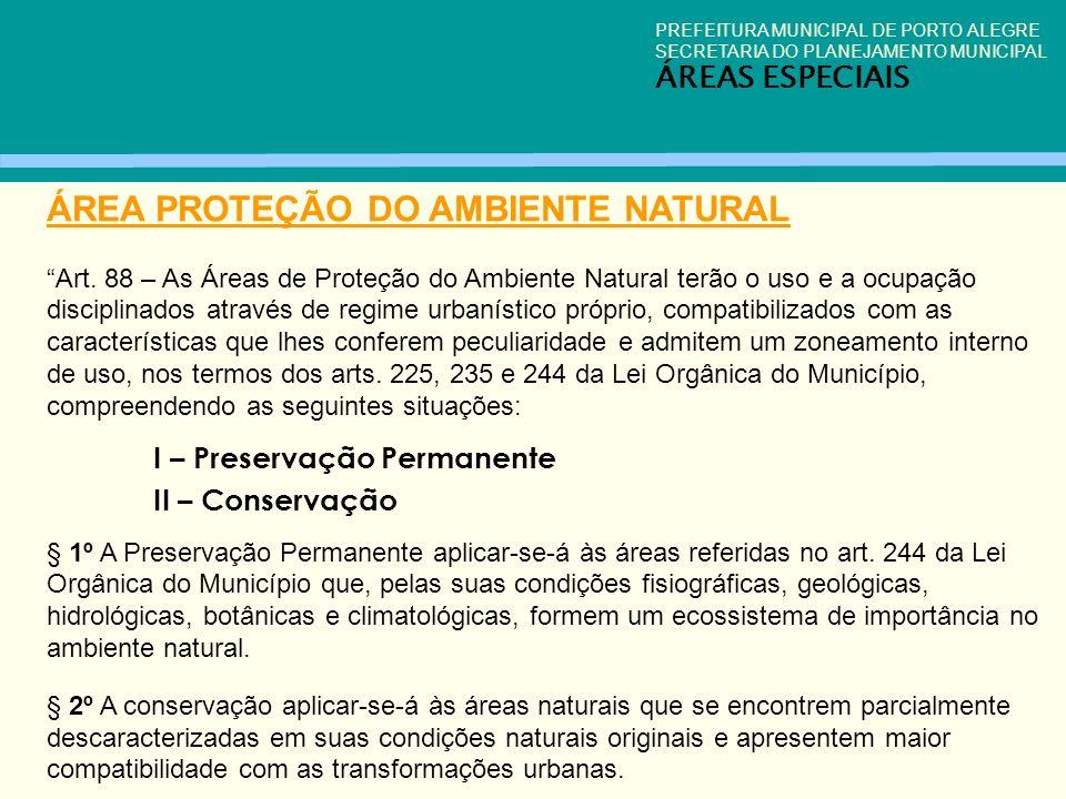 ÁREA PROTEÇÃO DO AMBIENTE NATURAL