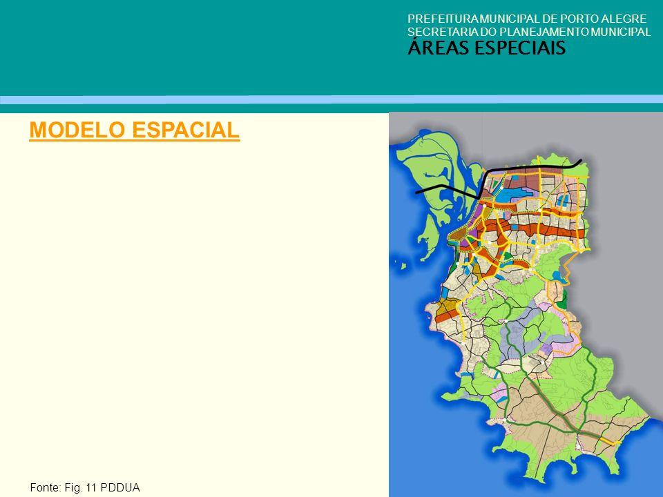 MODELO ESPACIAL ÁREAS ESPECIAIS PREFEITURA MUNICIPAL DE PORTO ALEGRE