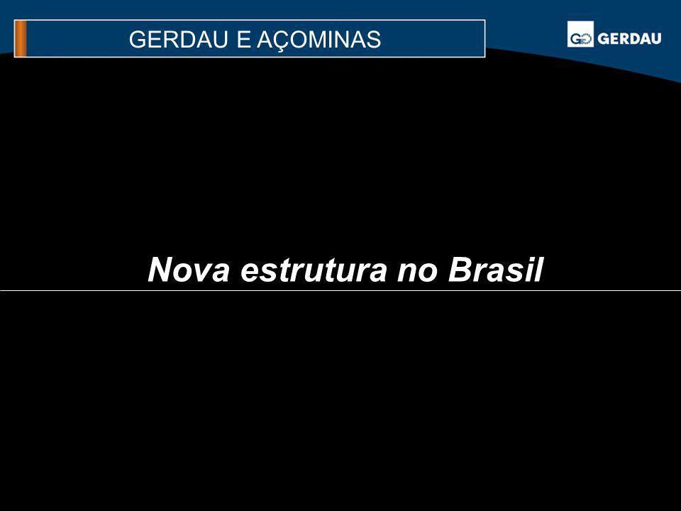 Nova estrutura no Brasil
