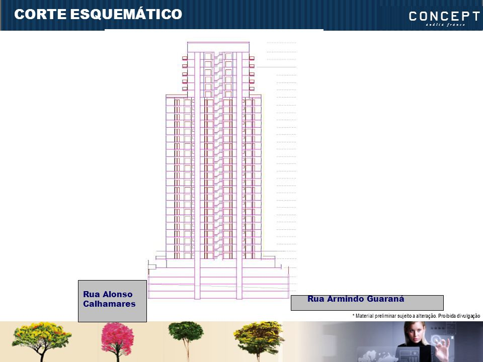 CORTE ESQUEMÁTICO Rua Alonso Calhamares Rua Armindo Guaraná