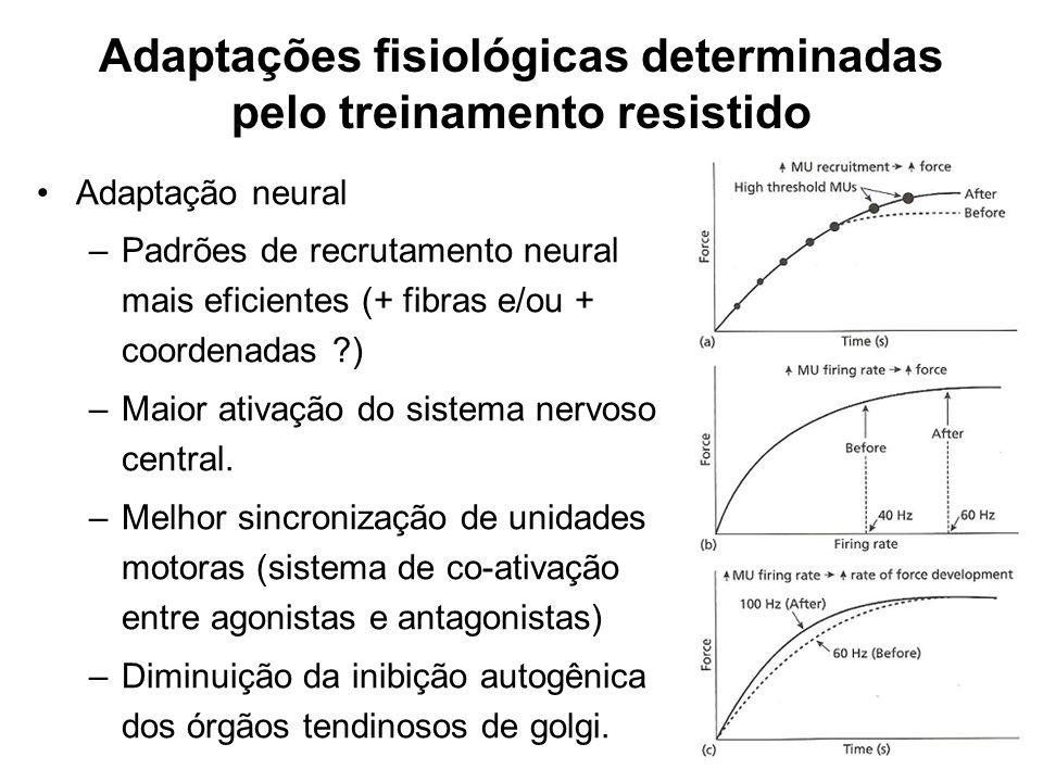 Adaptações fisiológicas determinadas pelo treinamento resistido
