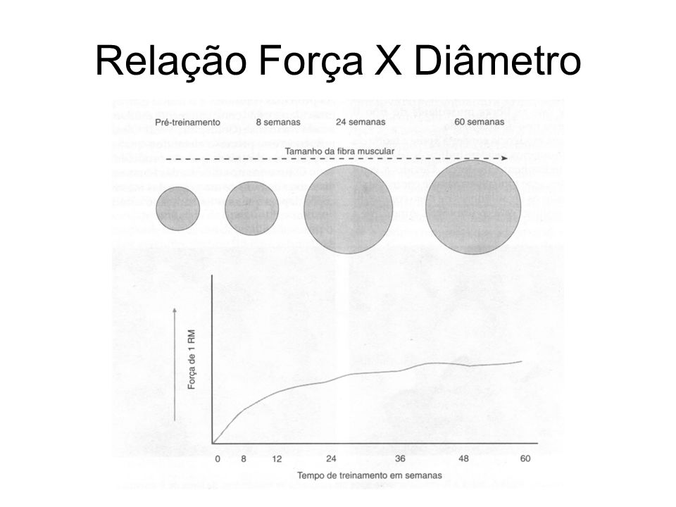 Relação Força X Diâmetro