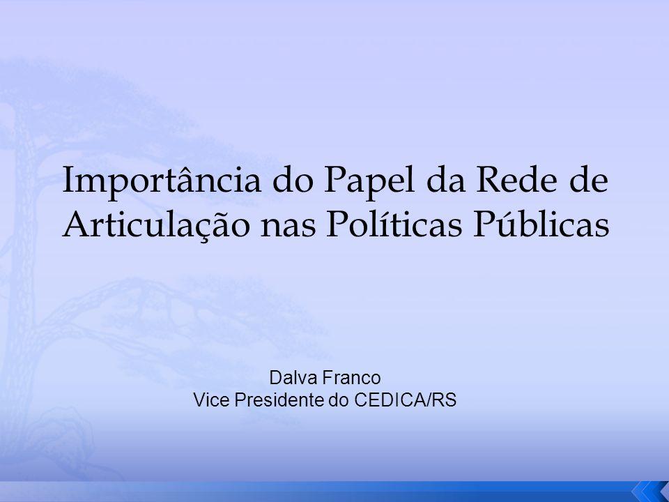 Importância do Papel da Rede de Articulação nas Políticas Públicas