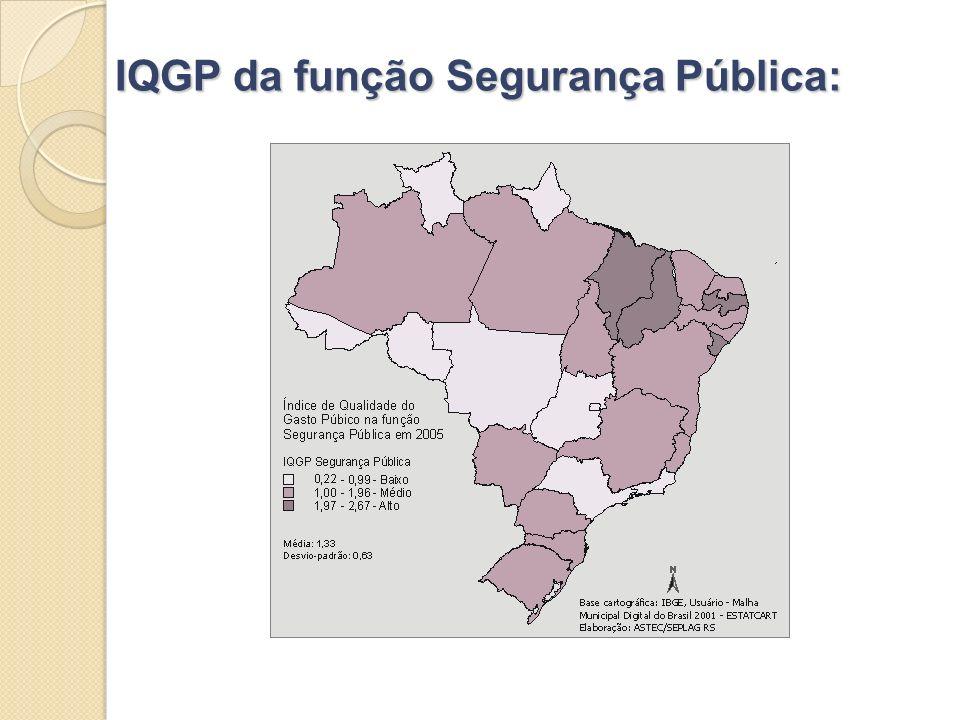 IQGP da função Segurança Pública: