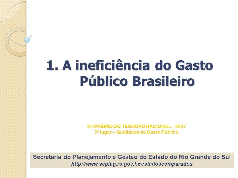 1. A ineficiência do Gasto Público Brasileiro