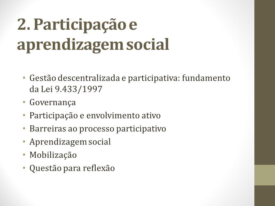 2. Participação e aprendizagem social