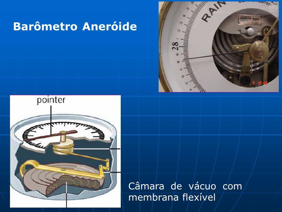Barômetro Aneróide Câmara de vácuo com membrana flexível