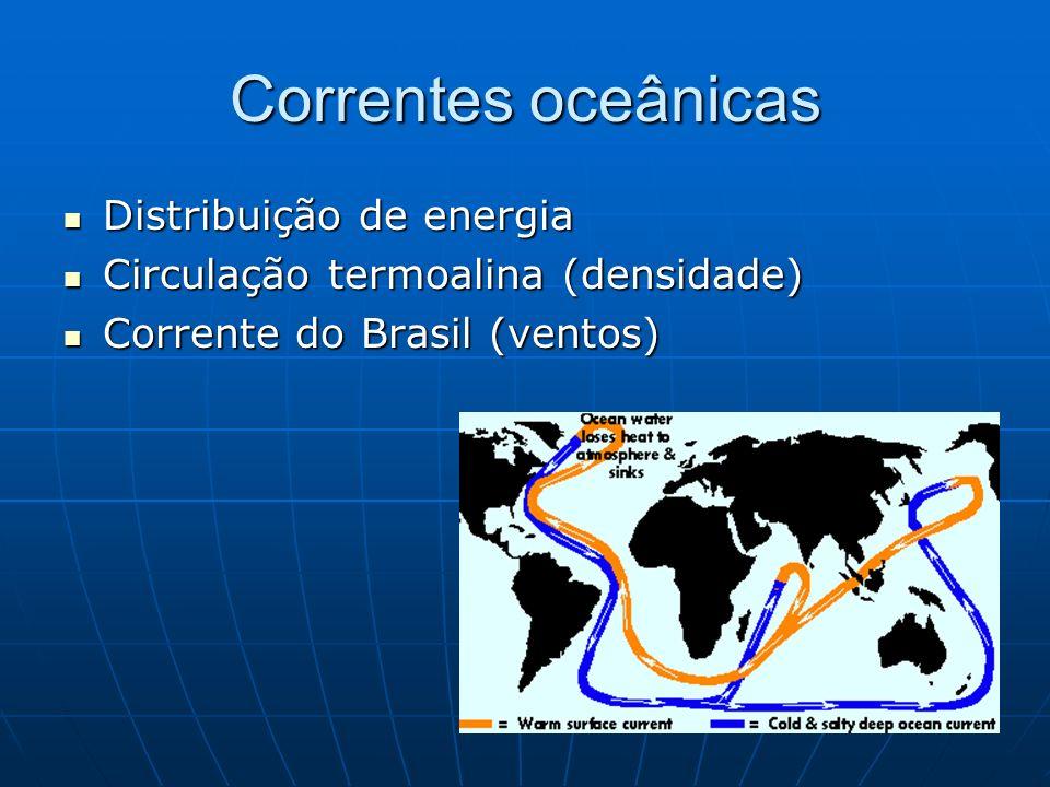 Correntes oceânicas Distribuição de energia