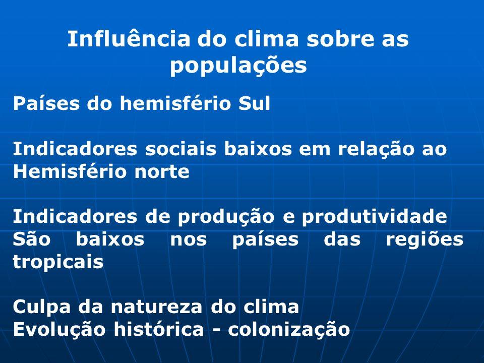 Influência do clima sobre as populações