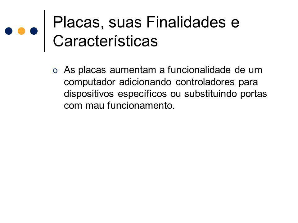 Placas, suas Finalidades e Características