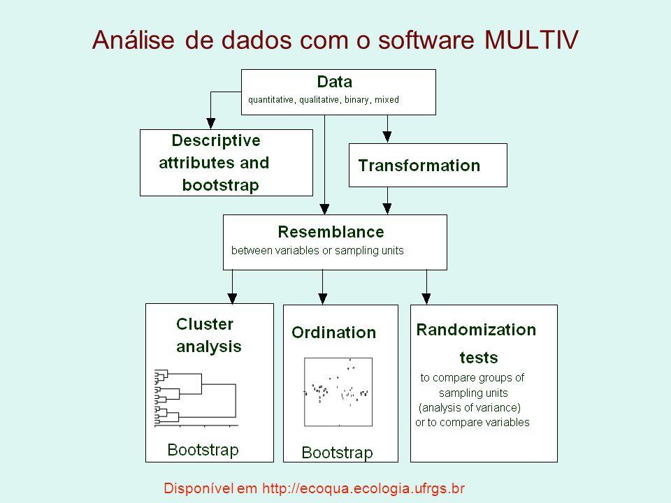 Análise de dados com o software MULTIV