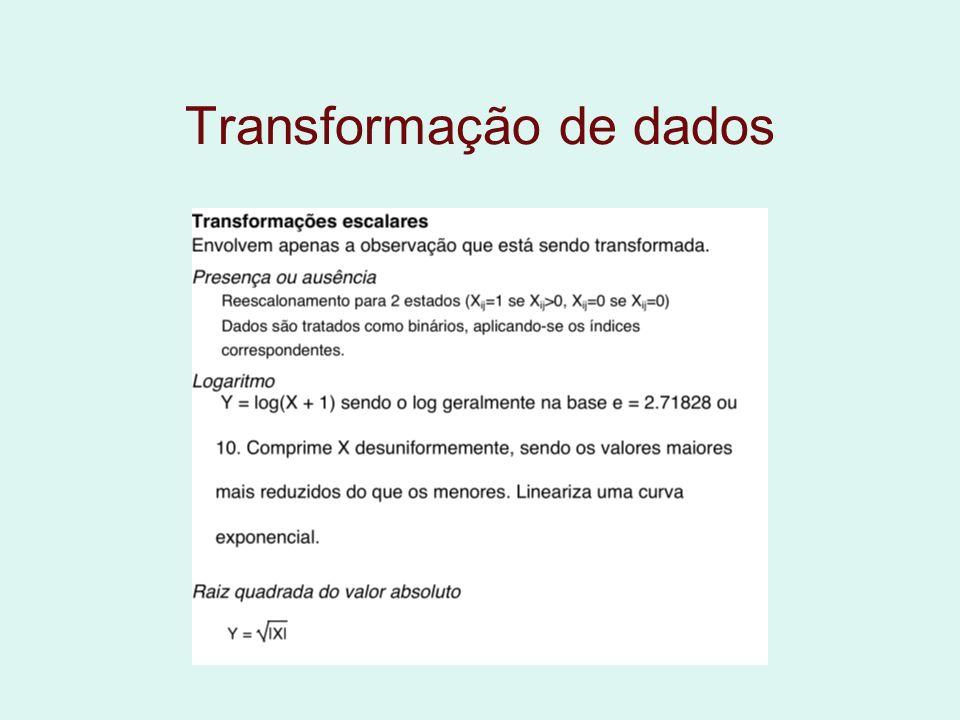Transformação de dados