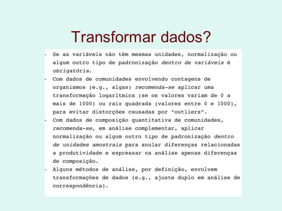 Transformar dados