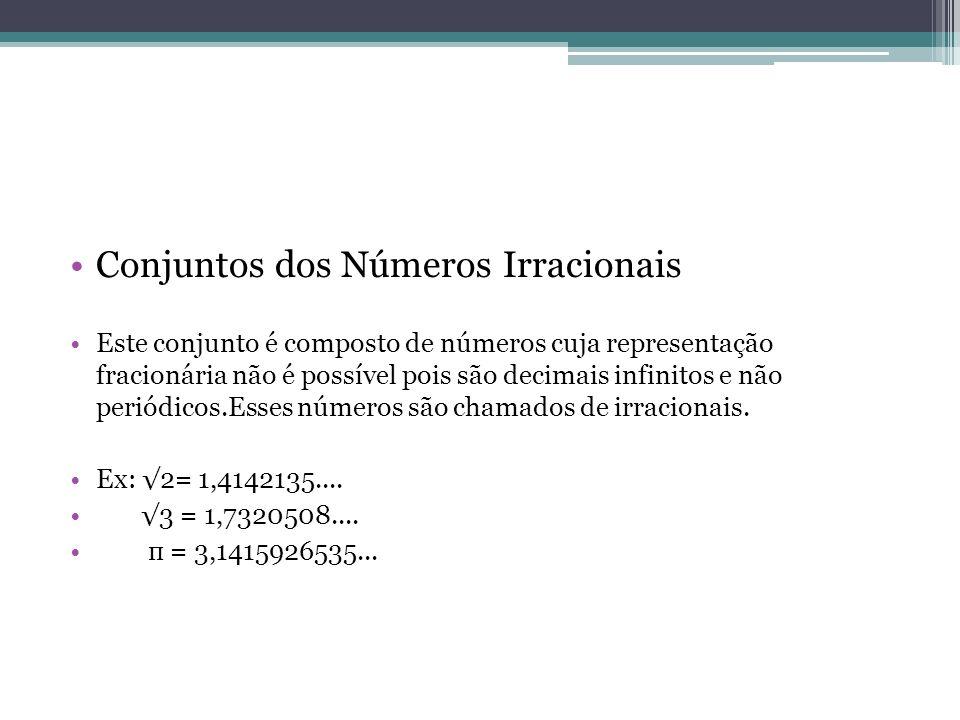 Conjuntos dos Números Irracionais