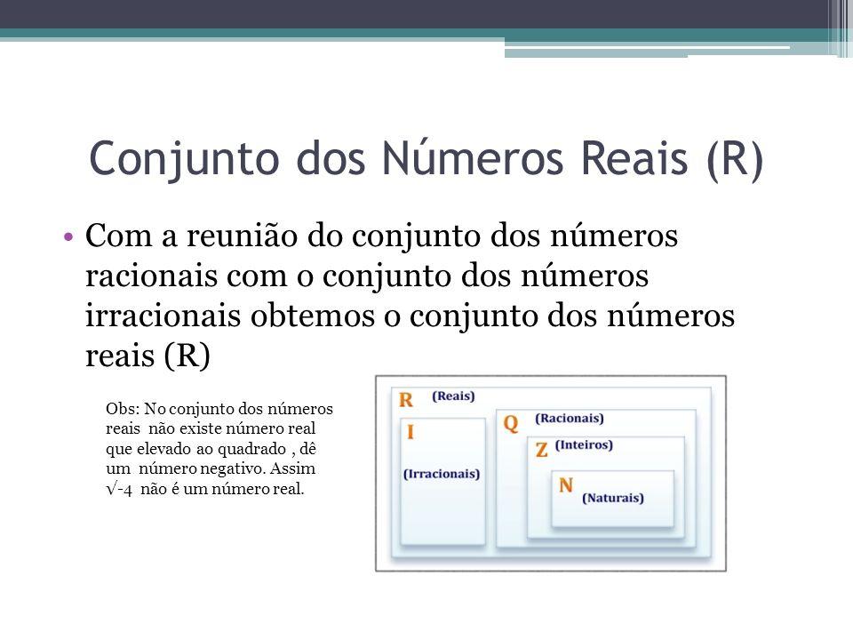 Conjunto dos Números Reais (R)