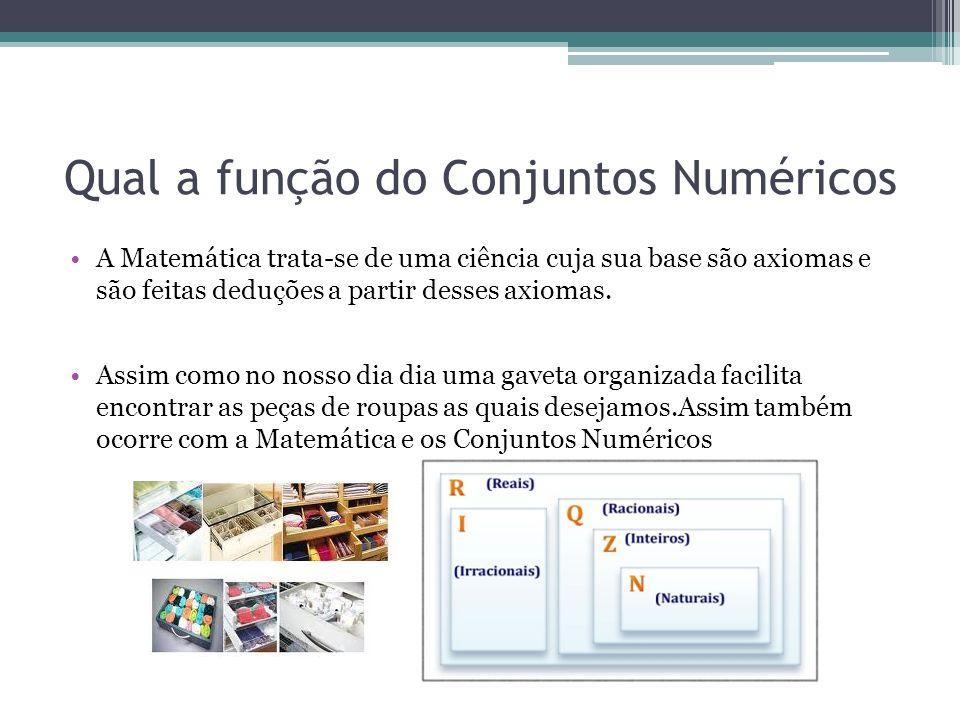 Qual a função do Conjuntos Numéricos