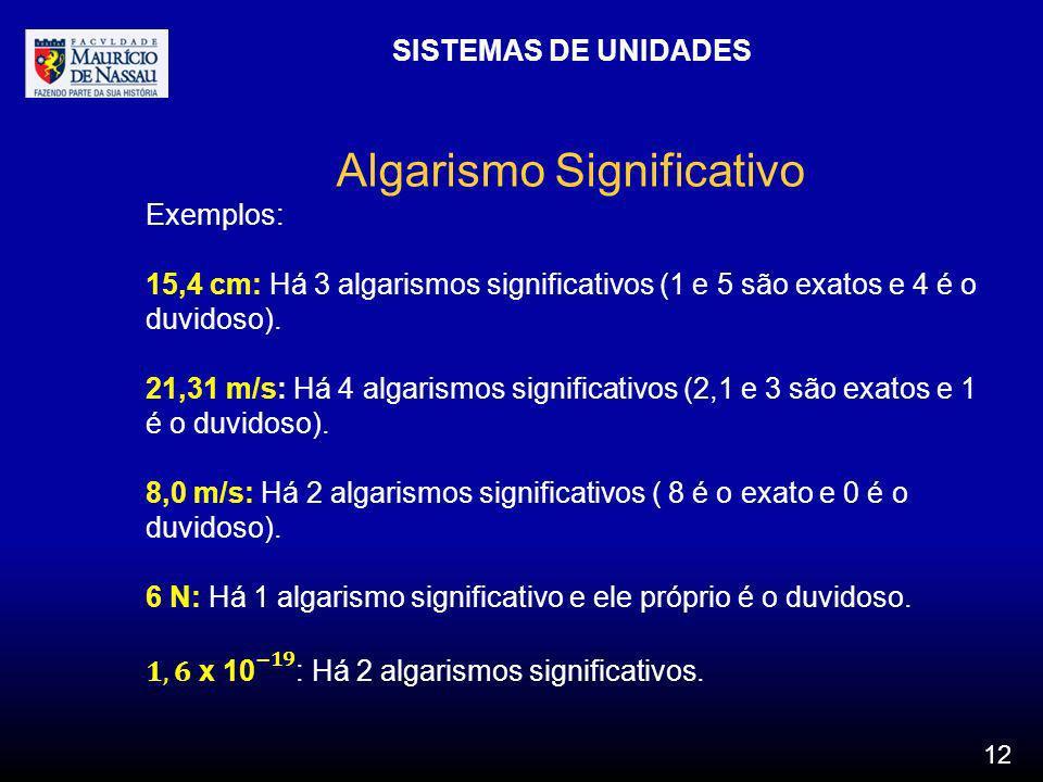 Algarismo Significativo