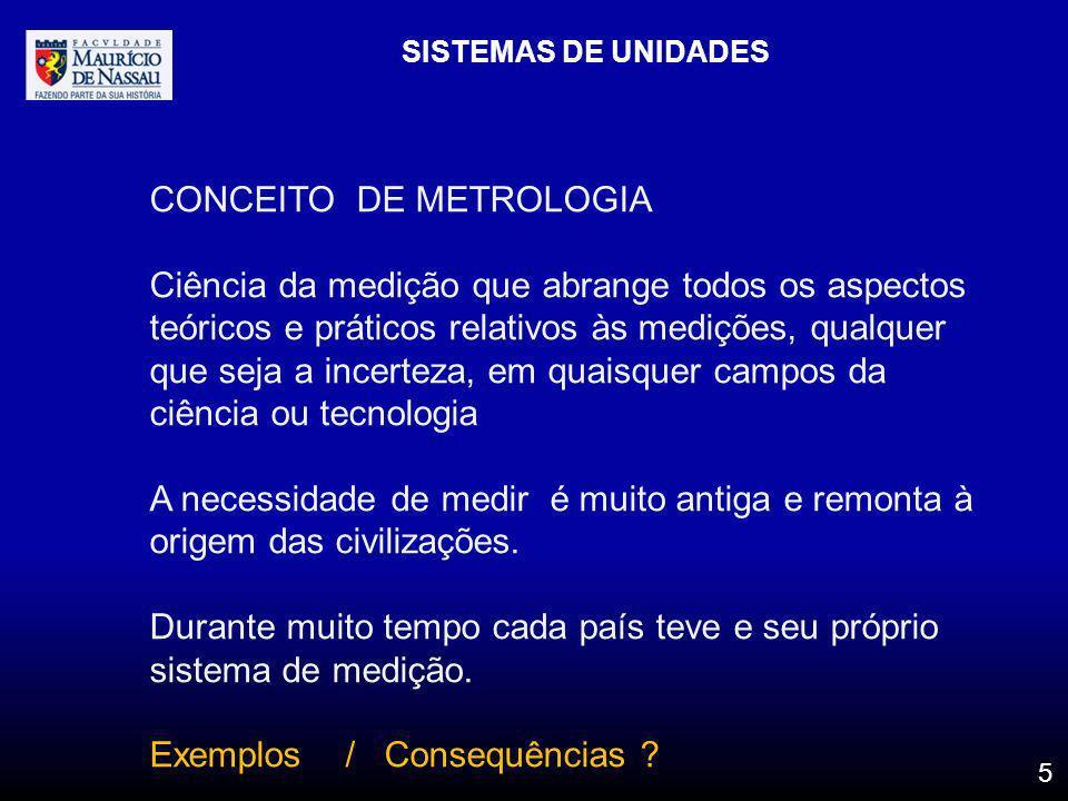 CONCEITO DE METROLOGIA