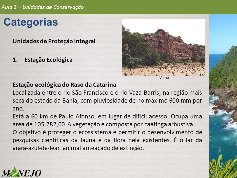 Categorias Unidades de Proteção Integral Estação Ecológica