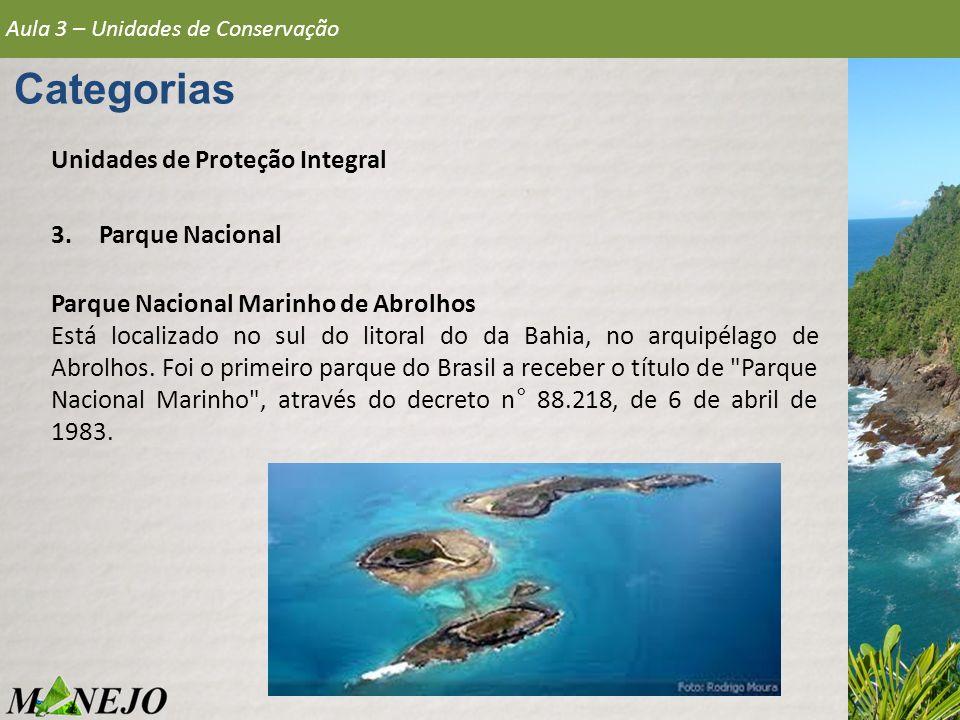 Categorias Unidades de Proteção Integral Parque Nacional
