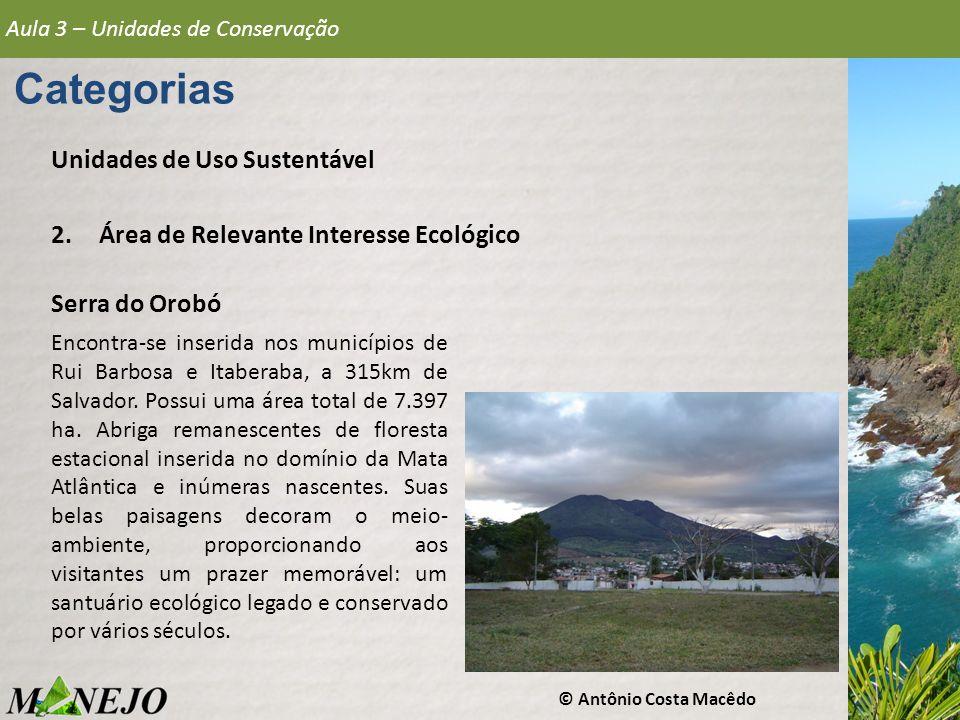 Categorias Unidades de Uso Sustentável