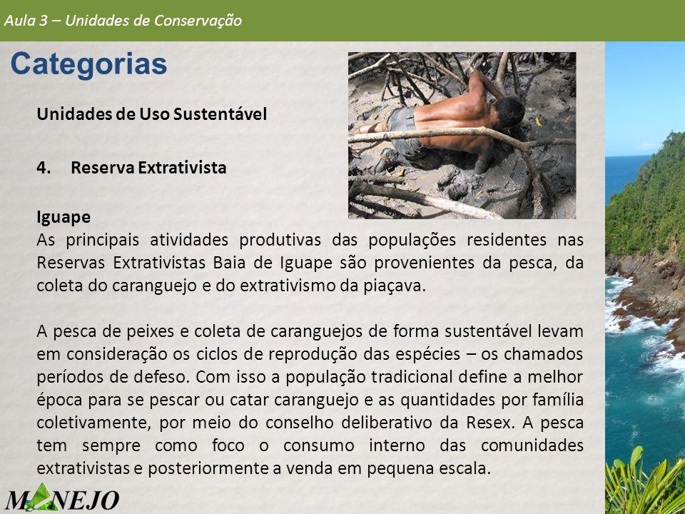 Categorias Unidades de Uso Sustentável Reserva Extrativista Iguape