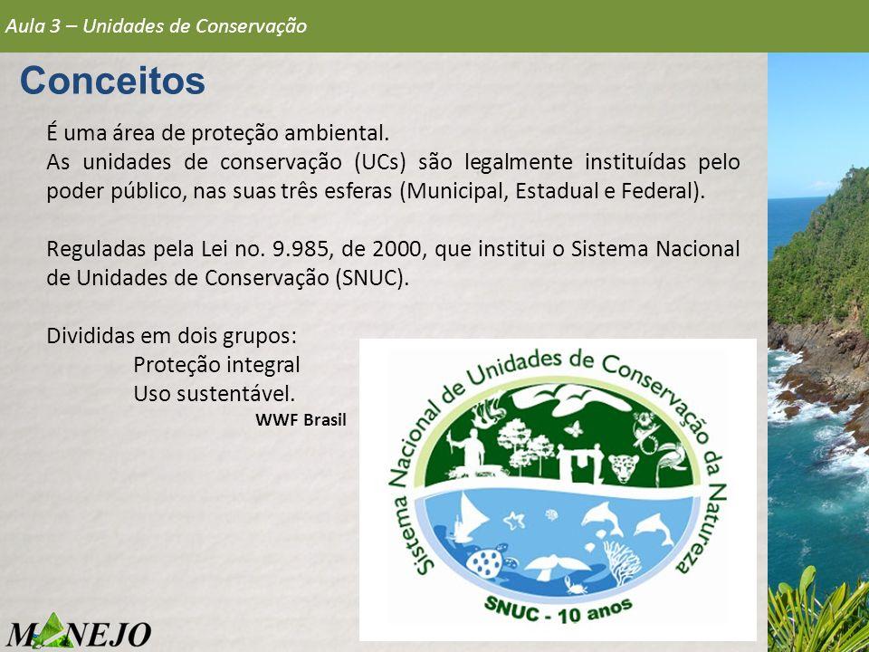 Conceitos É uma área de proteção ambiental.