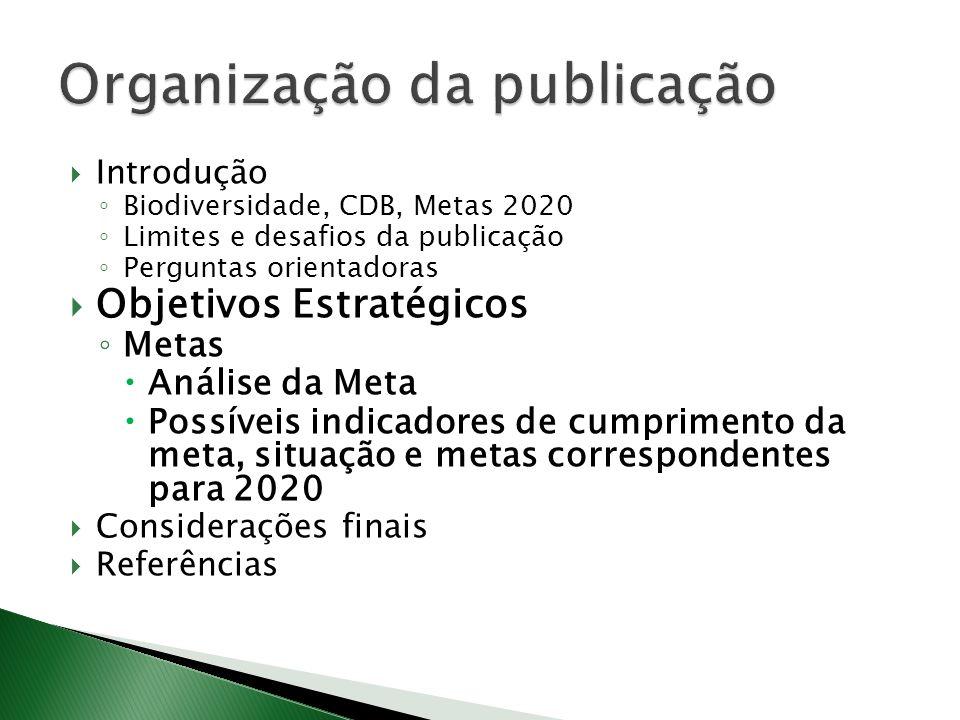 Organização da publicação