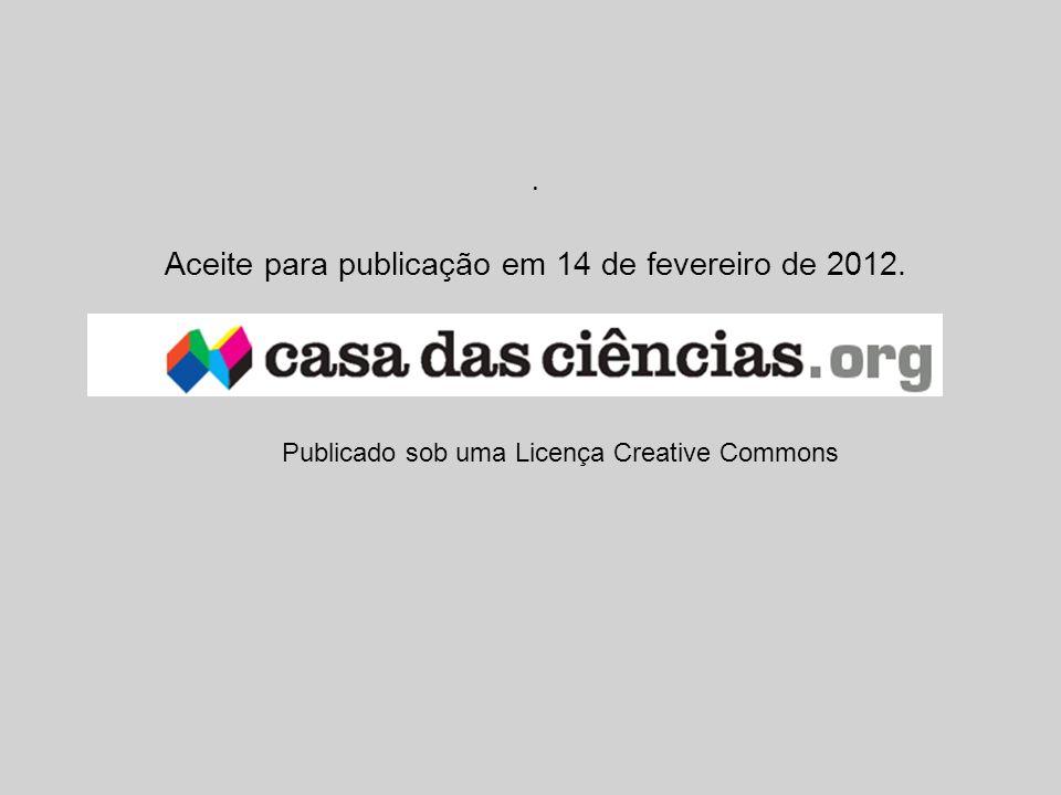 Aceite para publicação em 14 de fevereiro de 2012.