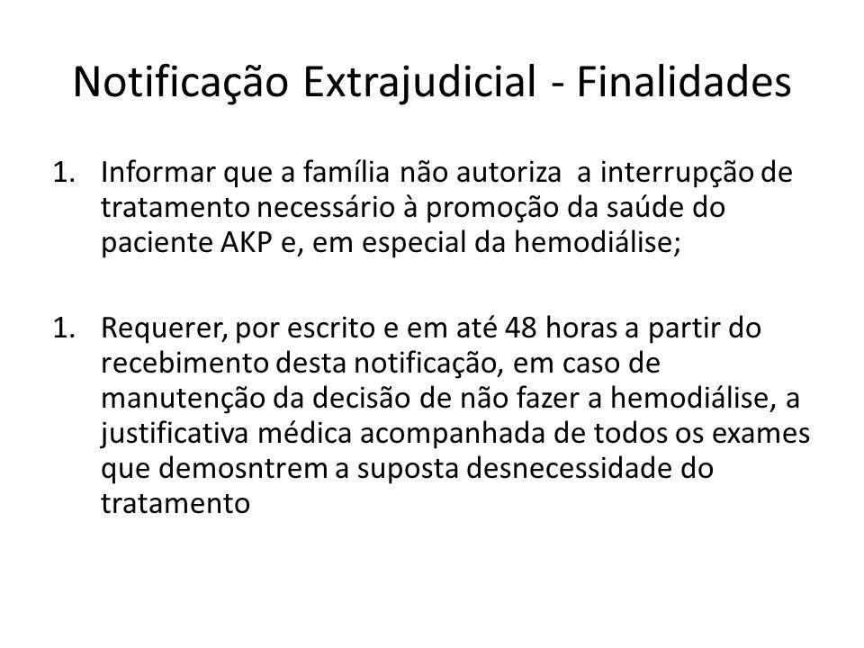 Notificação Extrajudicial - Finalidades