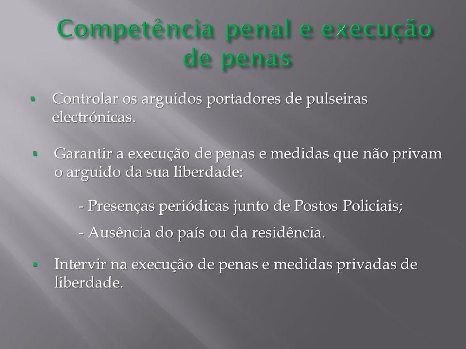Competência penal e execução de penas