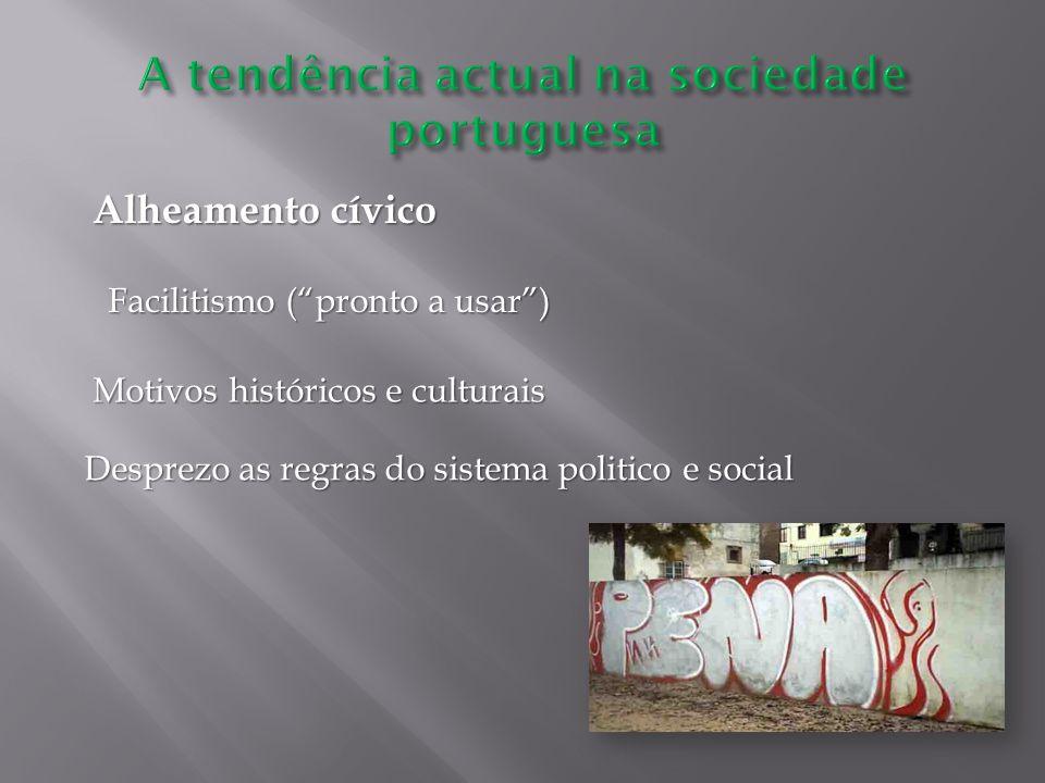 A tendência actual na sociedade portuguesa