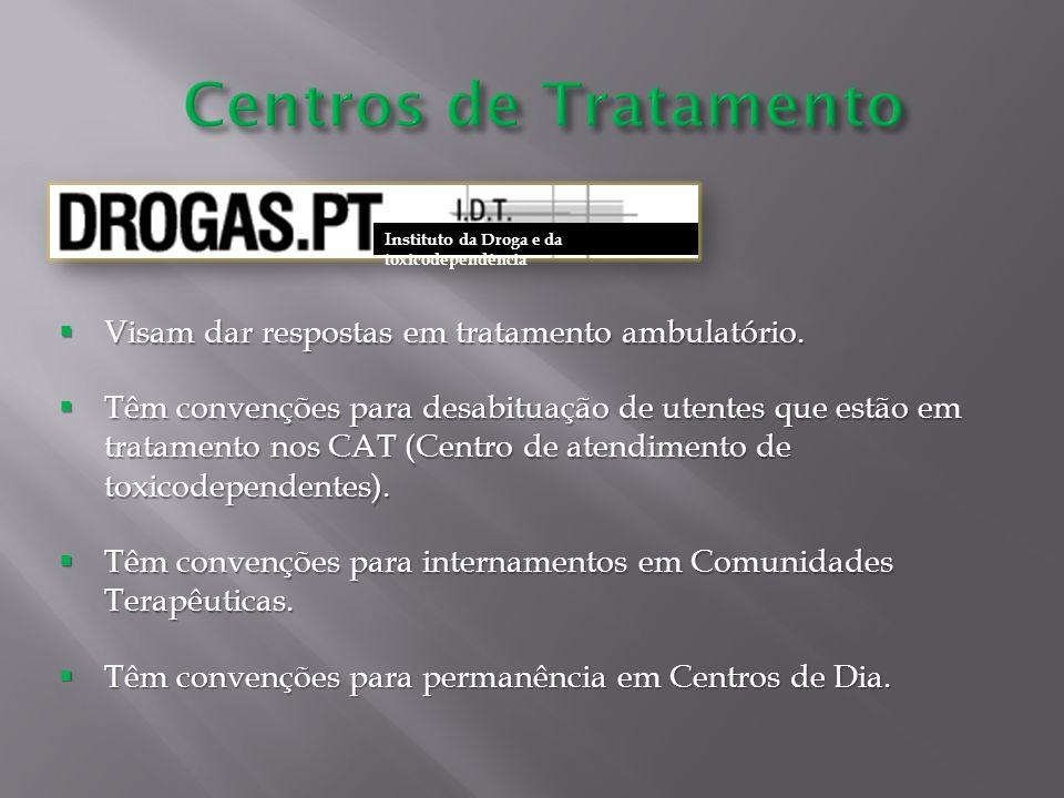 Centros de Tratamento Visam dar respostas em tratamento ambulatório.