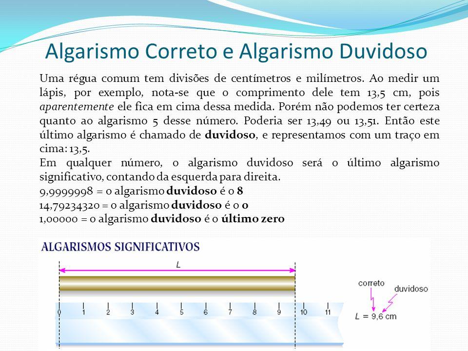 Algarismo Correto e Algarismo Duvidoso