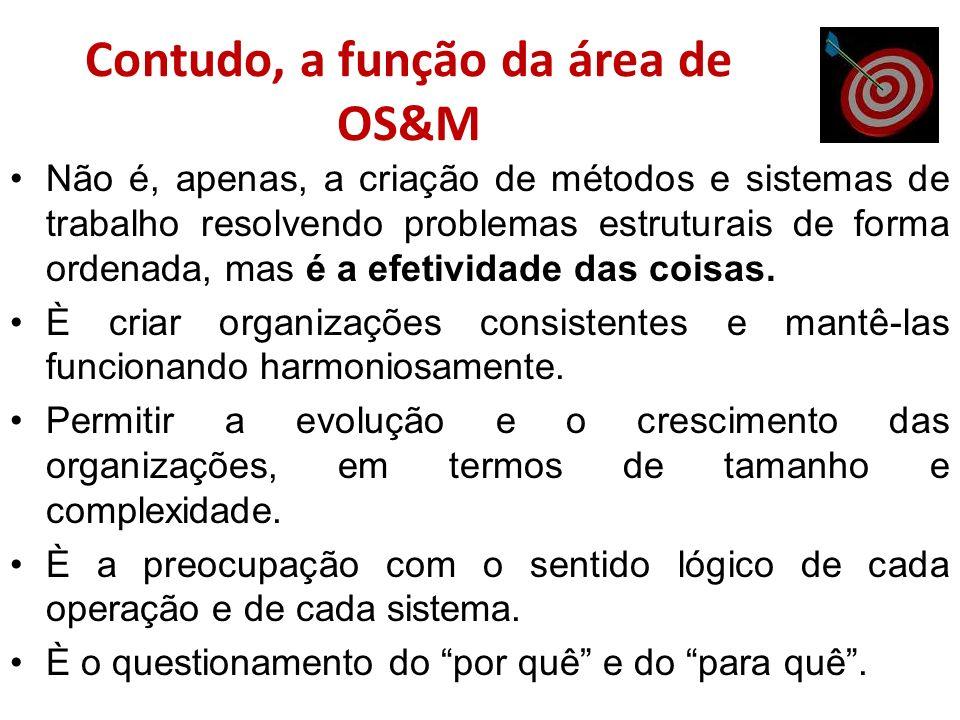 Contudo, a função da área de OS&M