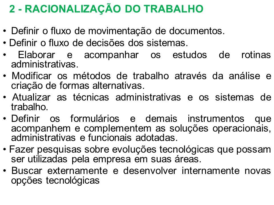 2 - RACIONALIZAÇÃO DO TRABALHO